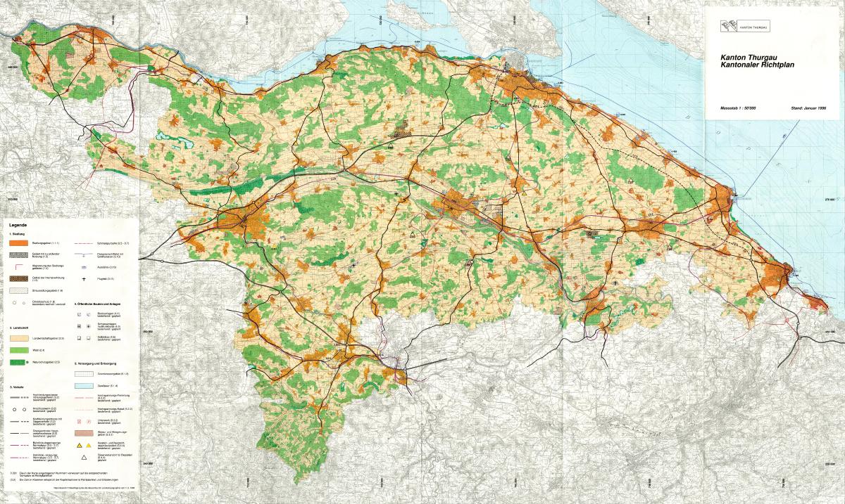 Kantonaler Richtplan 1996